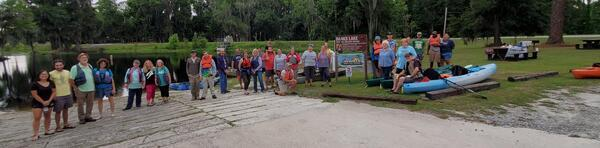 [WWALS and Suwannee Riverkeeper Banners at Banks Lake NWR]