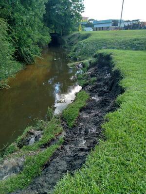 [Creek erosion]