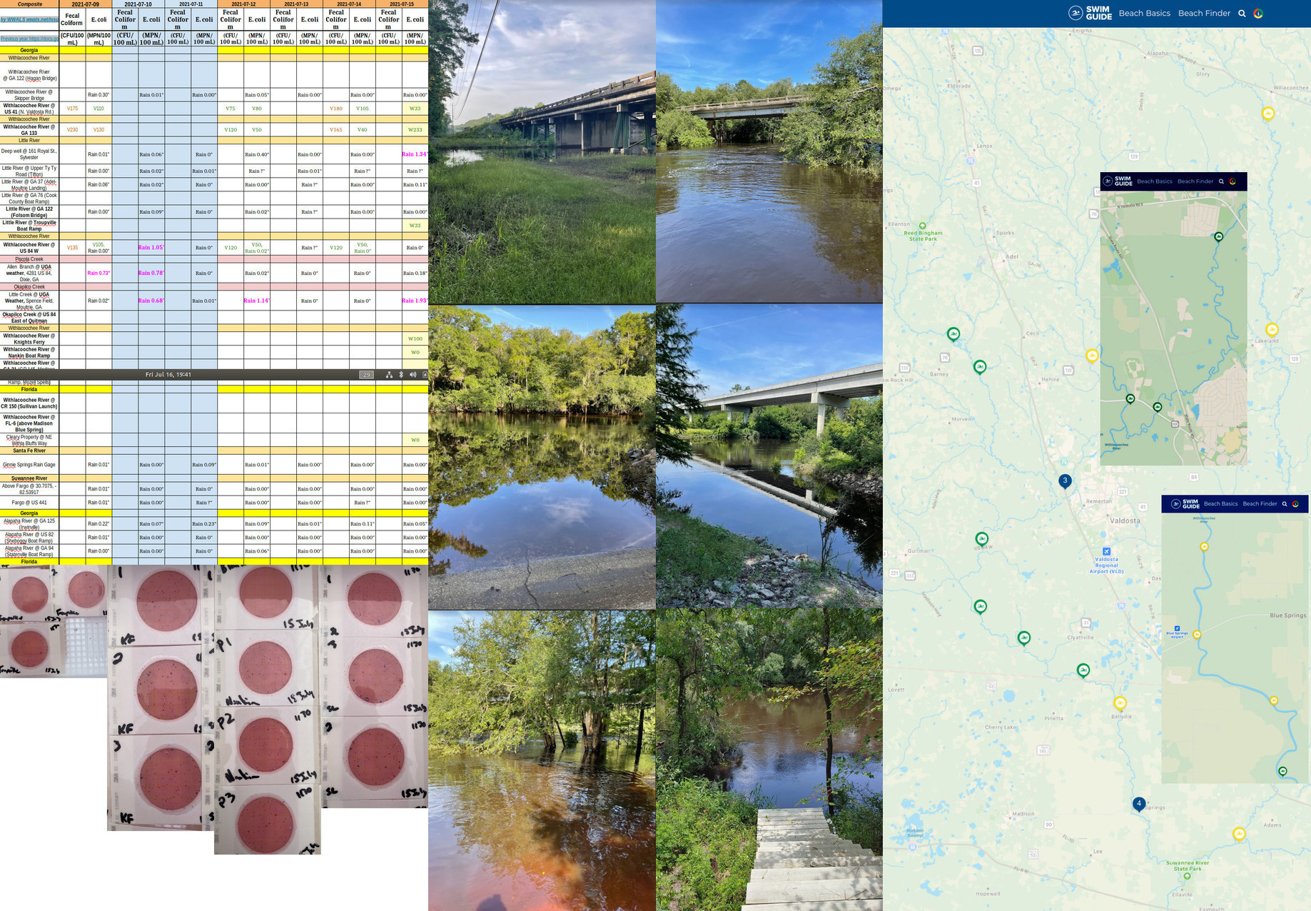 [Chart, Withlacoochee River scenes, Swim Guide]