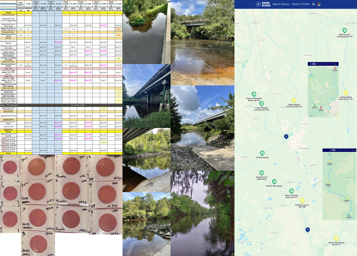 [Chart, Up and Down Withlacoochee River, Map]