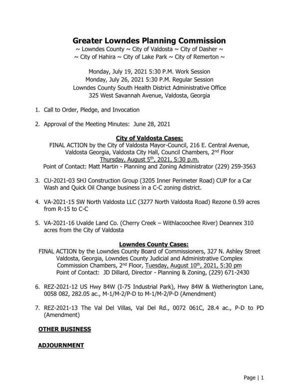 [GLPC Agenda July 2021]