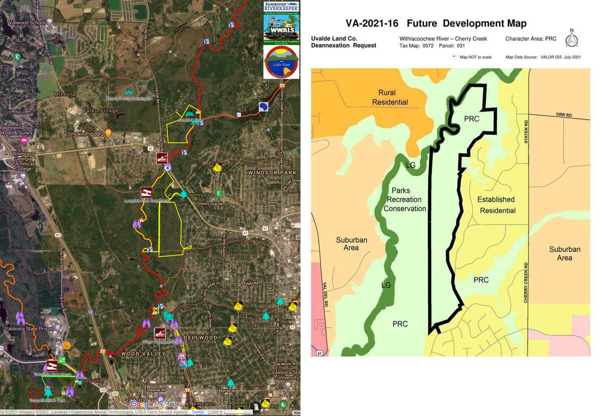 [Public land and Uvalde Land Trust Deannexation request, Withlacoochee River]