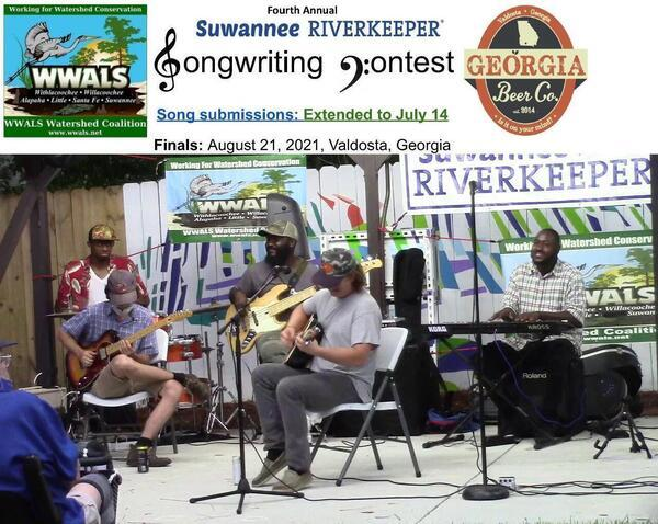 [Submissions open April 1, 2021, Suwannee Riverkeeper Songwriting Contest, Headliners last year]