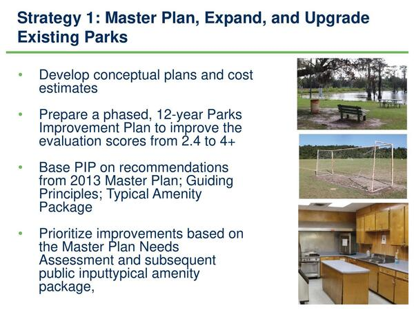 [Strategy 1: Expand and Upgrade Existing Parks]