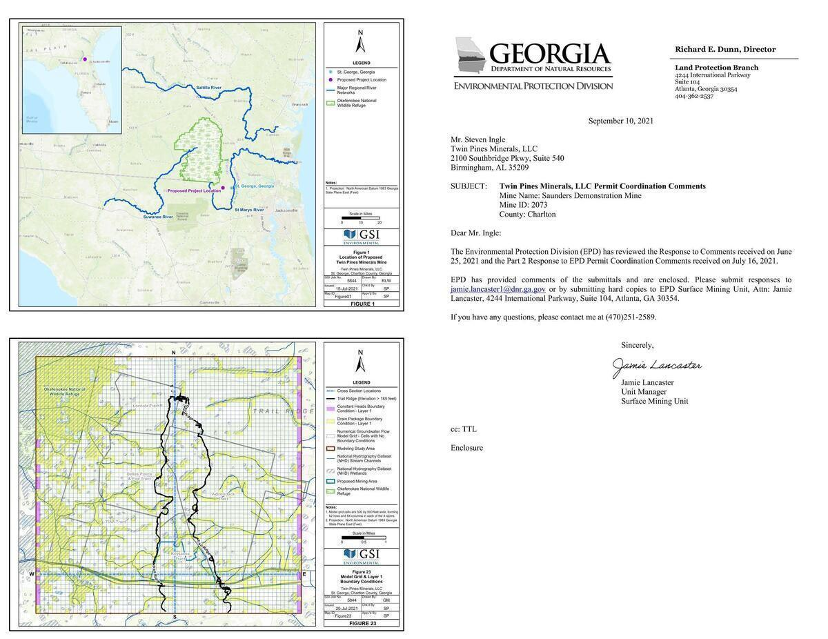 [Rivers, Swamp and mine site, GA-EPD cover letter]