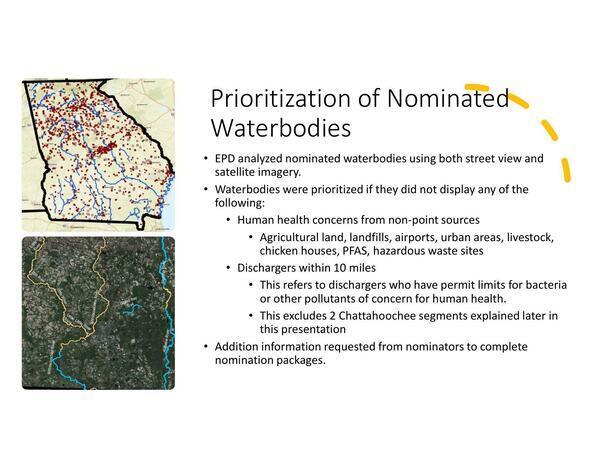 [Prioritization of Nominated Waterbodies]