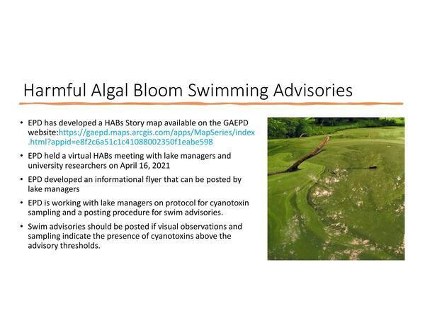 [Harmful Algal Bloom Swimming Advisories]
