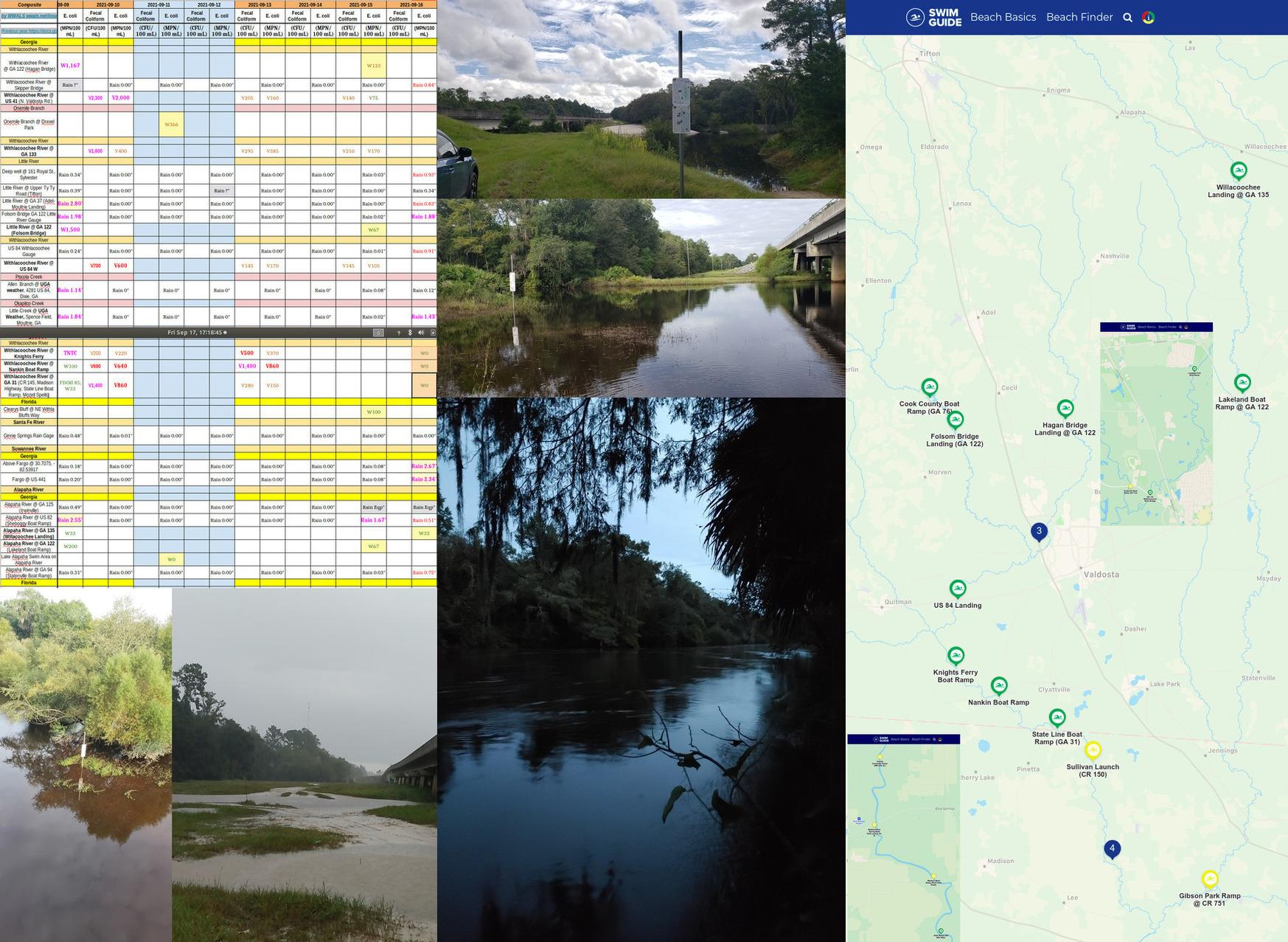 [Chart, Rivers, Swim Guide]