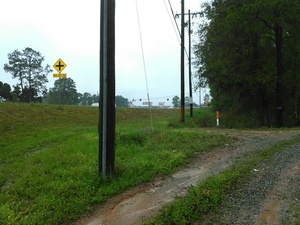 Where US 41 right of way meets access road 30.8943024, -83.3198547