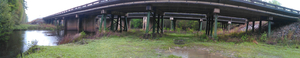 Under the US 41 bridge over Withlacoochee River 30.8947222, 83.3261111