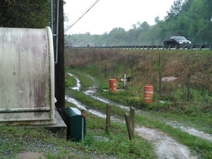 On down past the Lowndes County sewer facility 30.8945904, -83.3198929