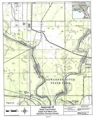 Figure 1A: FEIS Page B-137, Sabal Trail Main Line, Hamilton County, Florida
