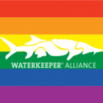 Waterkeeper Rainbow Flag with Sturgeon